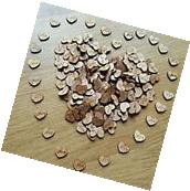 NEW 100pcs Rustic Wooden Love Heart Wedding Table Scatter