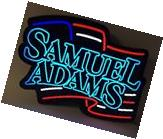 Samuel Adams Boston Lager LED Sign American Flag NEW In BOX