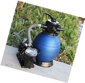 """12"""" Sand Filter w/Water Pump 2400GPH 4Above Ground Swimming"""