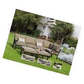 Sandhill 7-Piece Outdoor Sofa Sectional Set, Seats 5