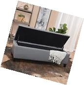 Sarelia Waffle Stitch Dark Gray Bonded Leather Storage