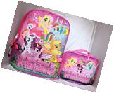 My Little Pony School Backpack Lunch Box Set rainbow Girls