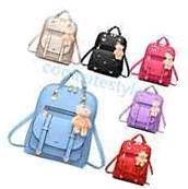 Fashion Women Girl School PU Leather Shoulder Bag Backpack