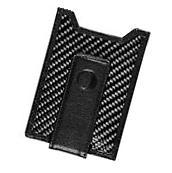 Secure, Slim Carbon Fiber Money Clip Wallet, RFID Card