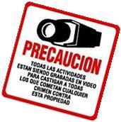 #204 SECURITY VIDEO CCTV SURVEILLANCE WARNING SIGN -