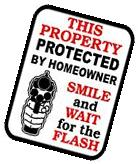 SECURITY Surveillance Signs Property Protected By Sign 24