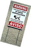 Security Video Surveillance Warning  24 Hr  Sign 8x12