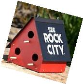 See Rock City Birdhouse Purple Martin Bird House Feeder