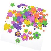BCP 200 Pcs Self-Adhesive Foam Flower Shapes Stickers For