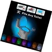 8 Color Body Sensing Automatic LED Motion Sensor Toilet Bowl