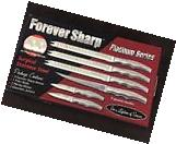 New - Forever Sharp Platinum Series Set of Knives Stainless