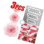 3pcs Set 3D Rose Petal Flower Cutter Fondant Cake Sugarcraft