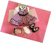 NEW American Girl Set Mary Ellen School Outfit Dress Shoes
