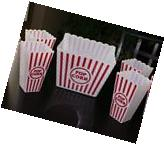 5pc set Large Retro Popcorn Bowl Tub Container Movie Theater