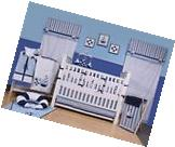 Blue Crib Set Sailor 10 Piece Nursery-in-a-Bag Bedding Baby