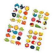 12Pcs Set Baby Kids Wooden Cartoon Animal Fridge Magnet