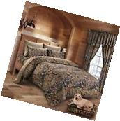 12 PC SET WOODS CAMO COMFORTER AND SHEET SET! KING! BED IN