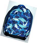 SHARK DESIGN SCHOOL BAG BACKPACK BOYS 14.5
