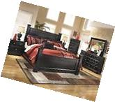 Ashley Shay B271 King Size Poster Bedroom Set 6pcs in Almost