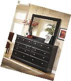 Ashley Shay Contemporary Style Almost Black Finish Dresser