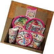 Shopkins Birthday Party Pack 16 Count Plates, Napkins, Cups
