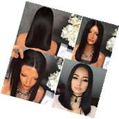 """14"""" Short Straight Natural Black Heat resistant Synthetic"""