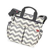 Skip Hop Duo Signature Baby Diaper Bag w/ Changing Pad Chevron NEW
