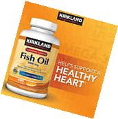 Kirkland Signature Fish Oil 1000mg, 400 Softgels * 300mg