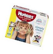 HUGGIES Simply Clean Baby Wipes, Unscented, Soft Pack , 72