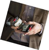 Mens Slim Wallet Sleek RFID Blocking Credit Card Money Clip