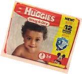 Huggies Snug and Dry diaper size 3, 34 ct , 4 packs, total