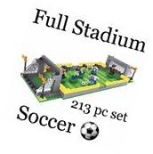 BRICK-LAND Soccer Stadium Building Bricks Toy Set for Kids