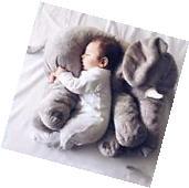 Baby Soft Plush Elephant  Sleep Pillow Kids Lumbar Cushion