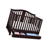 Graco Solano 4-in-1 Convertible Crib with Drawer - Espresso