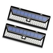 LITOM 2Pack LED Solar Power Light Motion Sensor Garden Yard