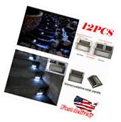 4 Pcs Outdoor Solar LED Stainless Steel Garden Patio Step