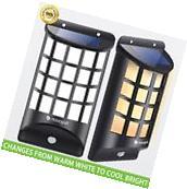 Outdoor Solar Wall Light, PIR Motion Sensor Wireless