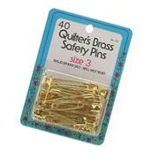 Large Solid Brass Safety Pins, Size 3 by Dritz/Collins 40/