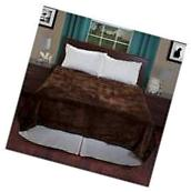 Yorkshire Home Solid Soft Heavy Thick Plush Mink Blanket -