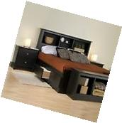 Prepac Sonoma Black King Platform Storage Bed 4 Piece