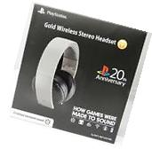 Sony Gold Wireless Headset 20th Anniversary Edition  NEW