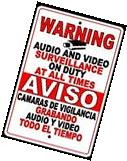 Spanish Surveillance Sign CCTV Warning Security Video Camera