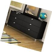 South Shore Spark 6-Drawer Double Dresser, Pure Black