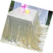 Sparkly Champagne Gold Sequin Table Cloth Cover For Wedding/