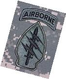 Special Forces US Army ACU Unit Patch w/ Airborne Tab & Hook