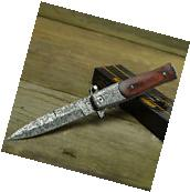 TAC FORCE Speedster Assisted Open Stiletto Milano Damascus