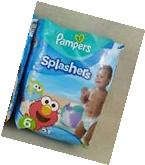 Pampers Splashers Elmo Swim Pants Diapers 24 Ct Sz 3-4 16-34
