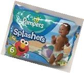 Pampers Splashers Swim Pant Diapers Size 6 - 37+ Lbs 21