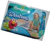 Pampers Splashers Swim Pants Pool Beach Sz 3-4 Boy Girl