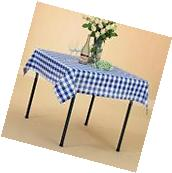 "VEEYOO 52x52"" Square Cotton Tablecloth Plaid Table Cover"